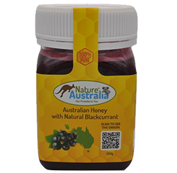 100% NATURAL AUSTRALIAN HONEY WITH BLACKCURRANT