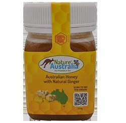 100% NATURAL AUSTRALIAN HONEY WITH GINGER